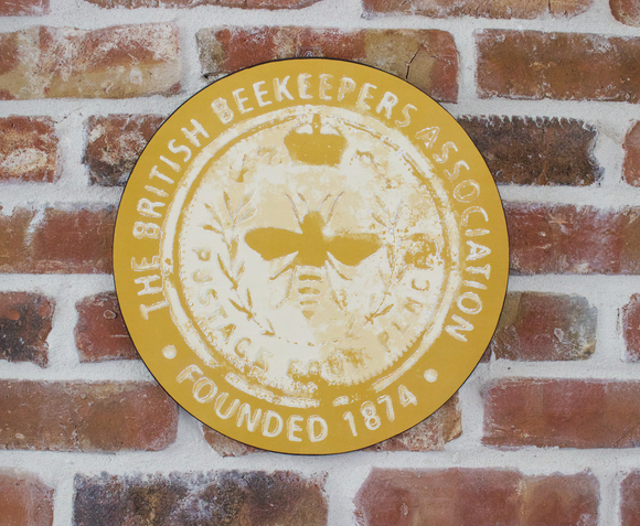 British Beekeepers Association Metal Wall Plaque