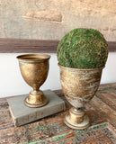 Gold Metal Chalice Set