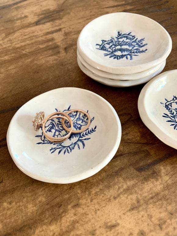 Blue and White Ring Dish