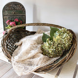 Antique Willow Gathering Basket