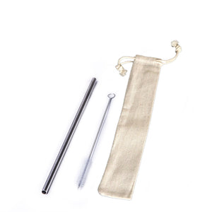 Straw Sets Metal Straw Set / Linen / none Eco Shop PH Zero Waste Philippines Metro Manila