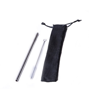 Straw Sets Metal Straw Set / Black / none Eco Shop PH Zero Waste Philippines Metro Manila