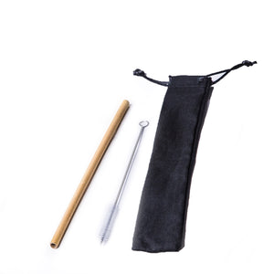Bamboo Straw Black Set / none Eco Shop PH Zero Waste Philippines Metro Manila