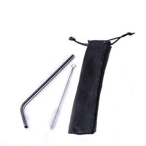 Straw Sets Bended Metal Straw Set / Black / none Eco Shop PH Zero Waste Philippines Metro Manila