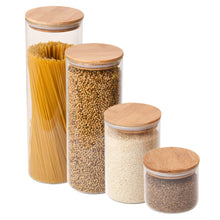 Glass Storage Jar with Bamboo Lid *Wholesale (10pcs+)*