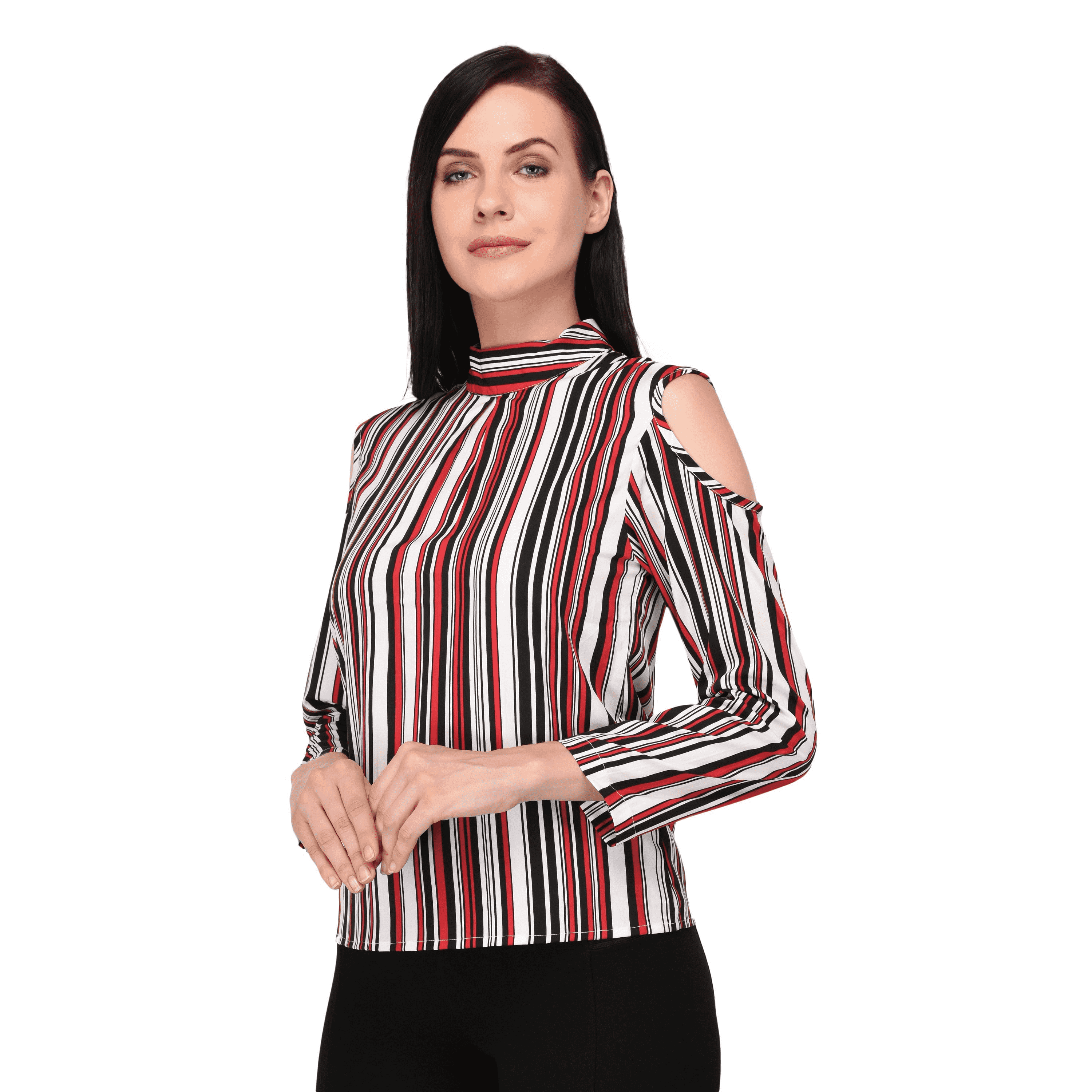 Cold Shoulder Top Red - NIXX Clothing