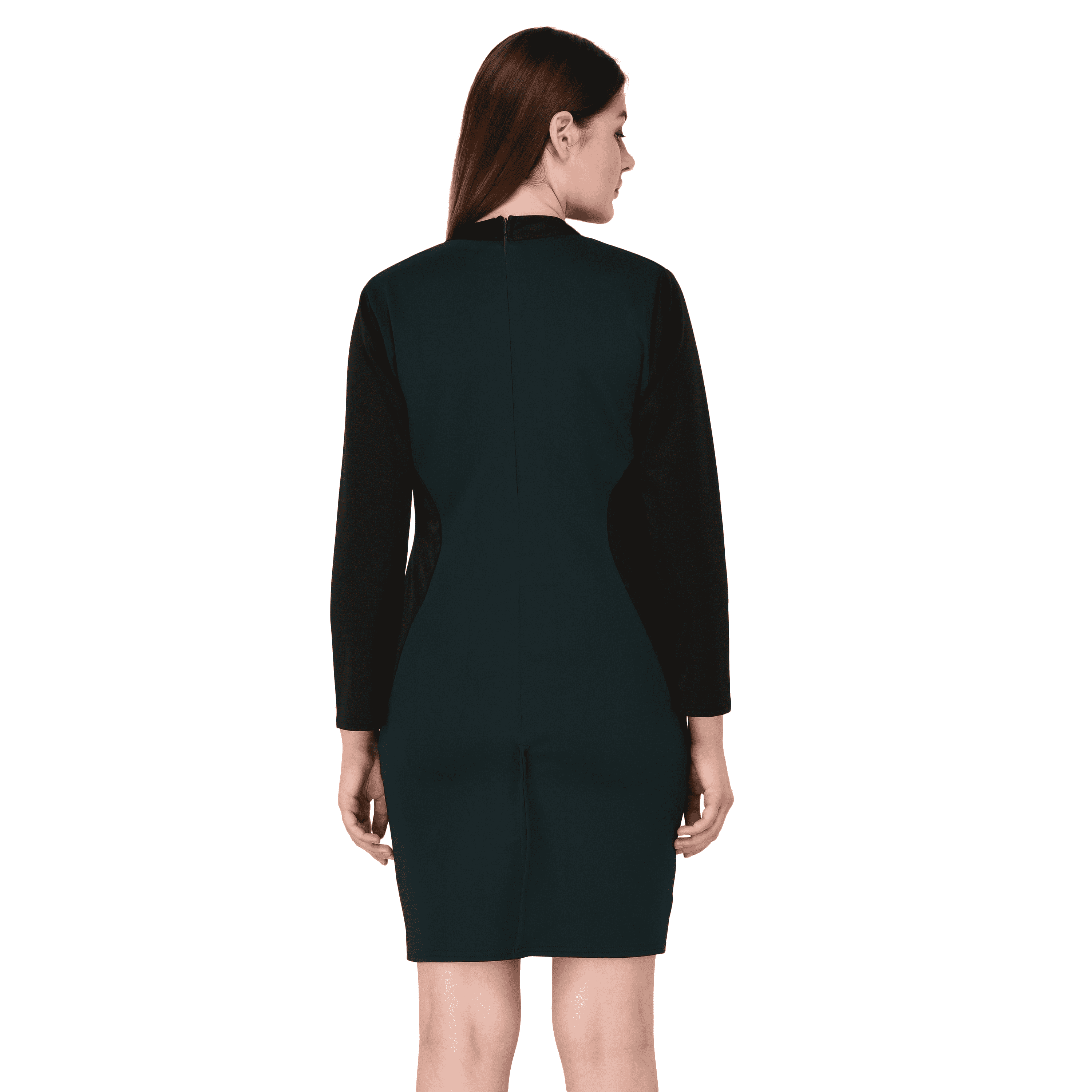 Panelled Dress Green - NIXX Clothing