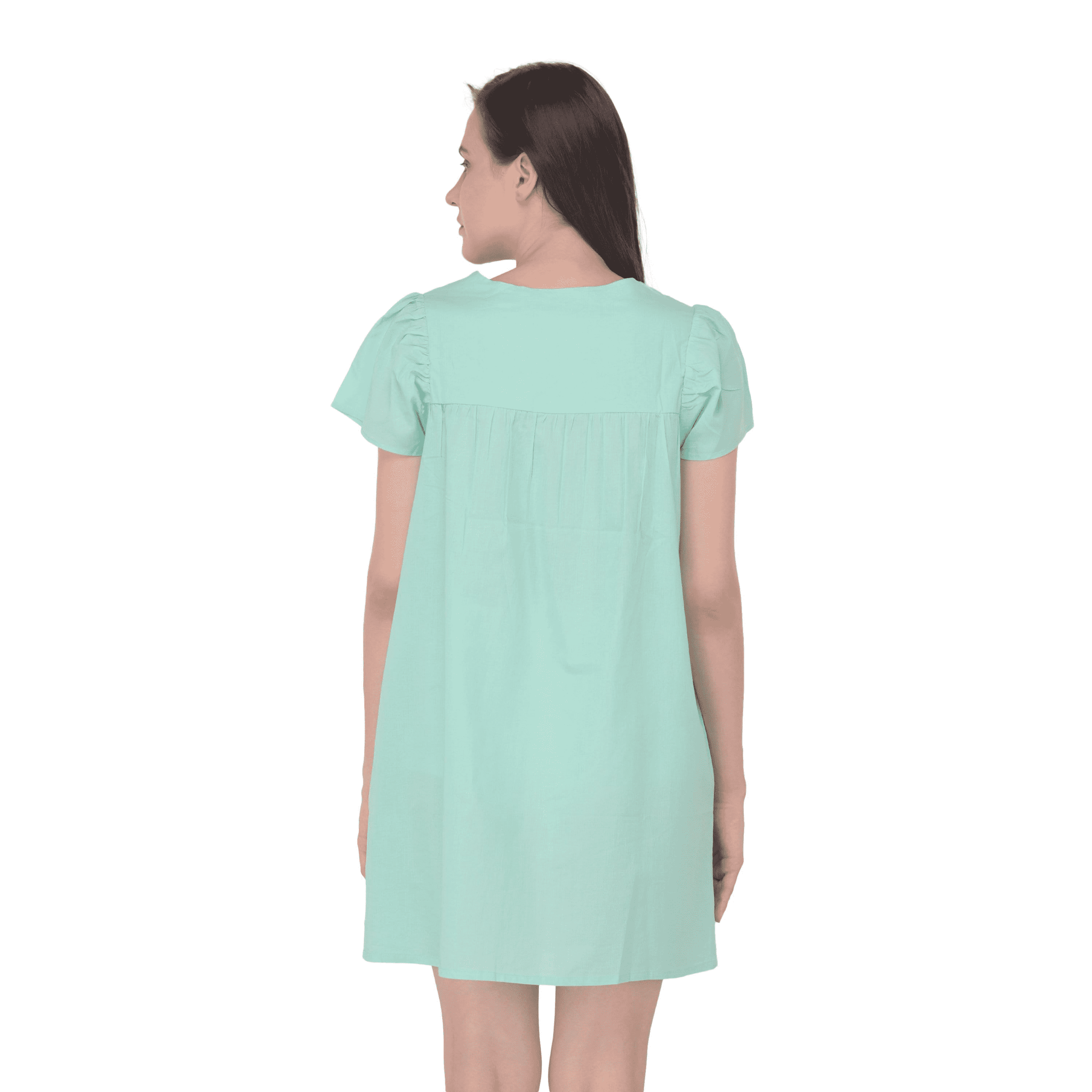 Lace Detail Tunic Green - NIXX Clothing