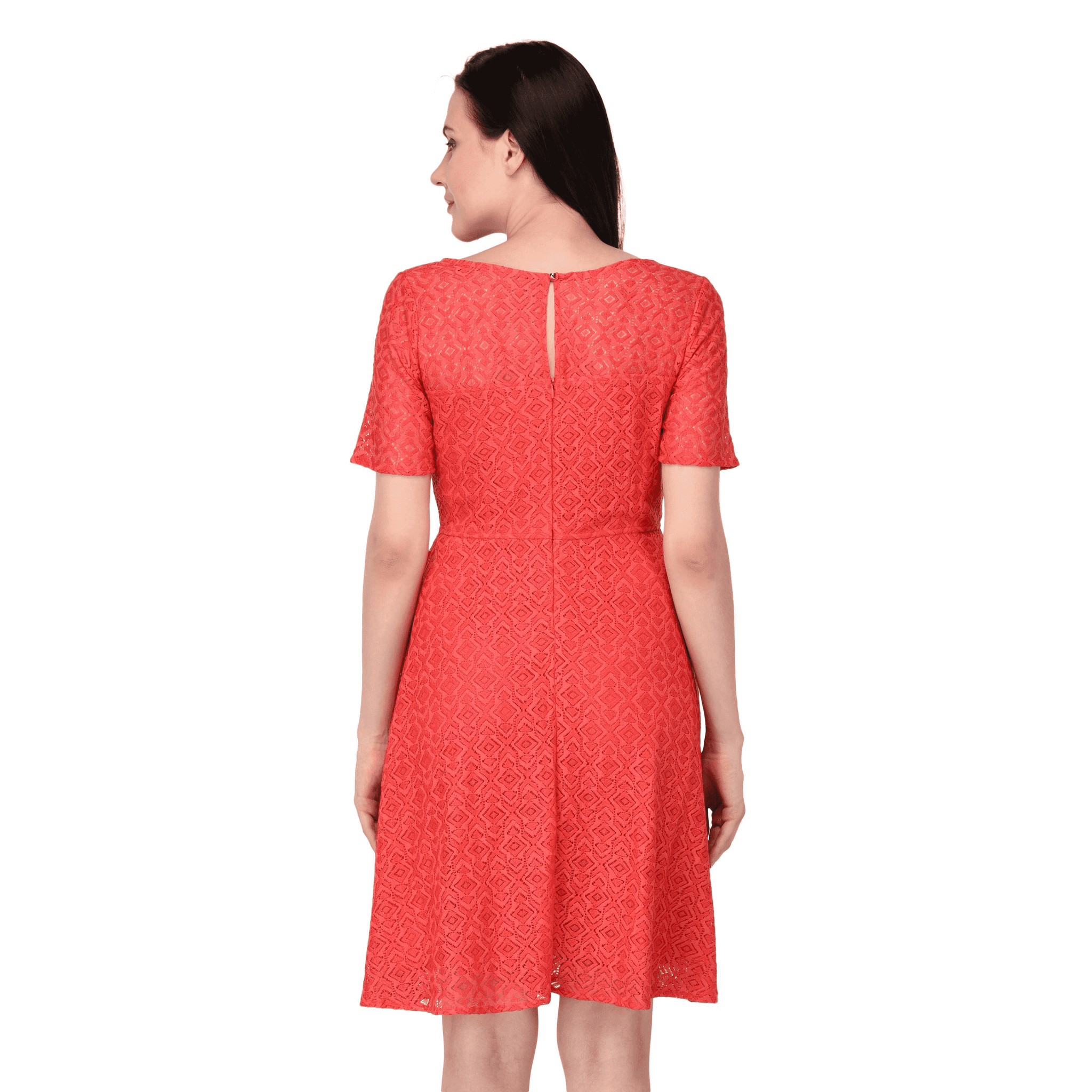 Flare & Swing Dress Red - NIXX Clothing
