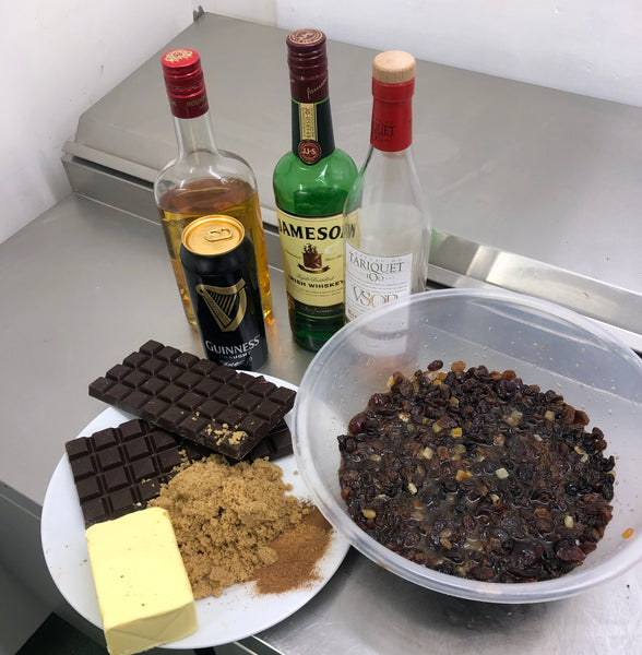 Christmas Pudding Brownie Ingredients