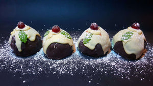 Brownie Egg - 4 Christmas Puddings With An Oreo Egg Centre