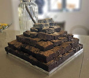 Dark Chocolate Brownies - Mount Everest Cake