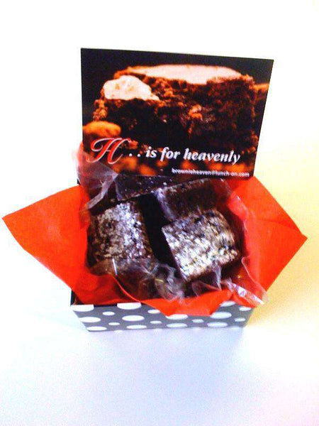 Gift Ideas - 12 Dark Chewy Chocolate Brownies