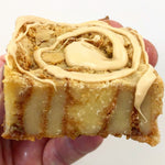 White Belgium Chocolate Blondies - Caramac & Cinnamon Swirl Twice Baked Blondies