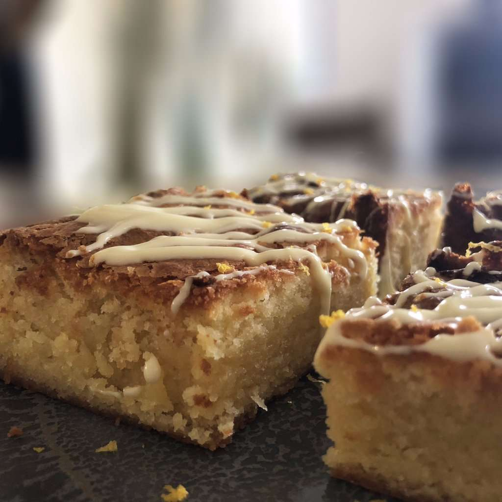 White Belgium Chocolate Blondies - Lemon & White Chocolate Blondies