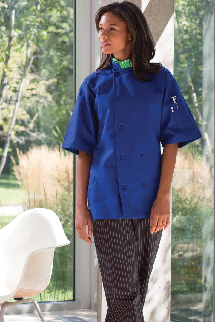 Royal Blue South Beach Chef Coat