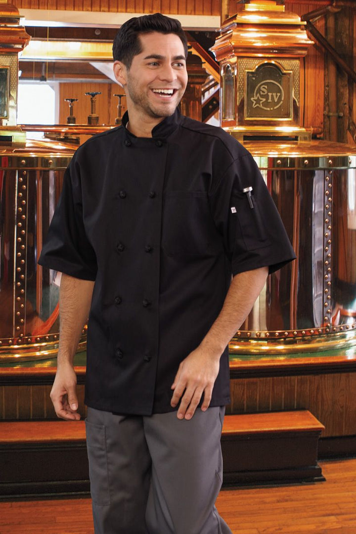 Black Monterey Chef Coat