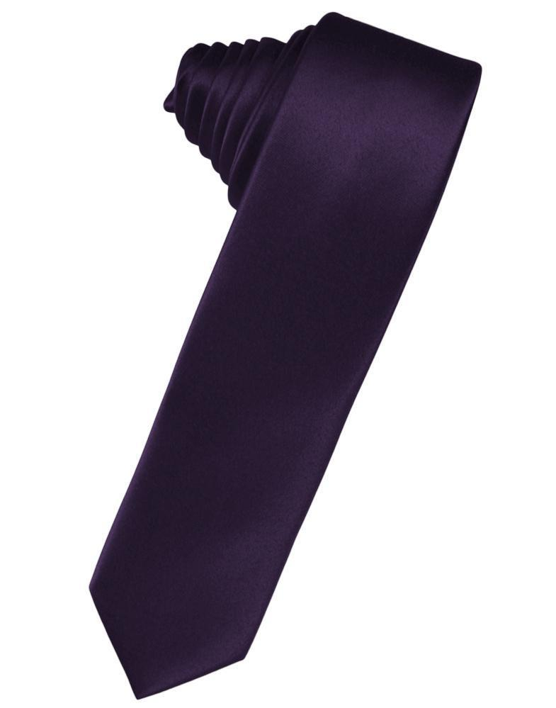 Lapis Luxury Satin Skinny Necktie