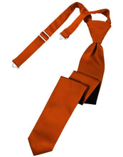 Load image into Gallery viewer, Persimmon Luxury Satin Skinny Necktie