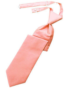 Coral Solid Twill Windsor Tie