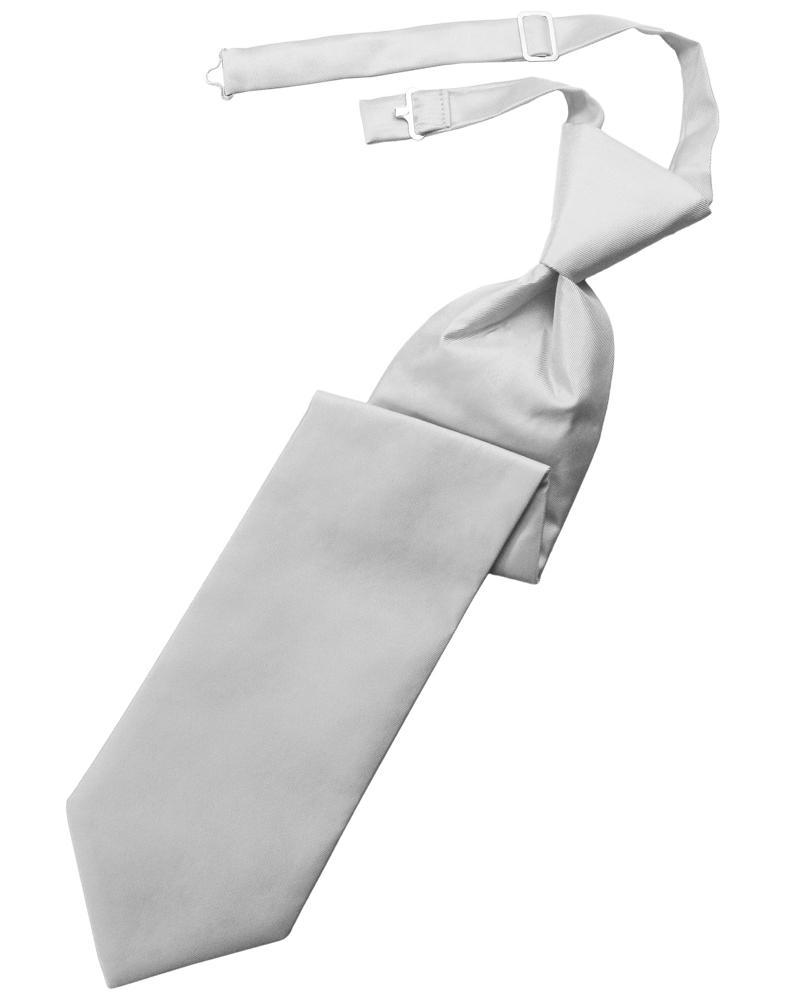 Silver Solid Twill Windsor Tie