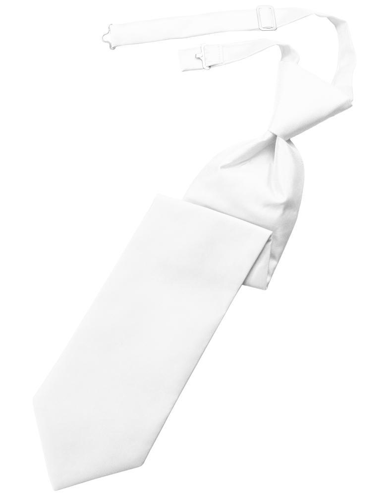 White Solid Twill Windsor Tie