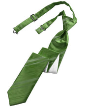 Load image into Gallery viewer, Clover Striped Satin Skinny Necktie