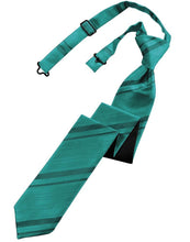 Load image into Gallery viewer, Oasis Striped Satin Skinny Necktie