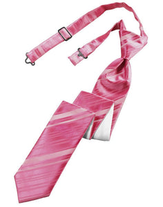 Watermelon Striped Satin Skinny Necktie