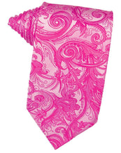 Load image into Gallery viewer, Fuchsia Tapestry Necktie