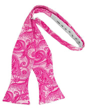 Load image into Gallery viewer, Fuchsia Tapestry Bow Tie
