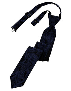 Midnight Blue Tapestry Skinny Necktie