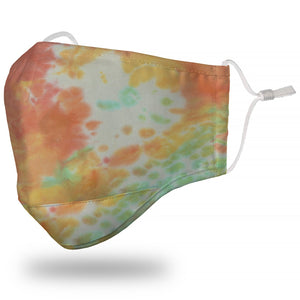 """Tie-Dyed"" Multi-Color Face Mask"