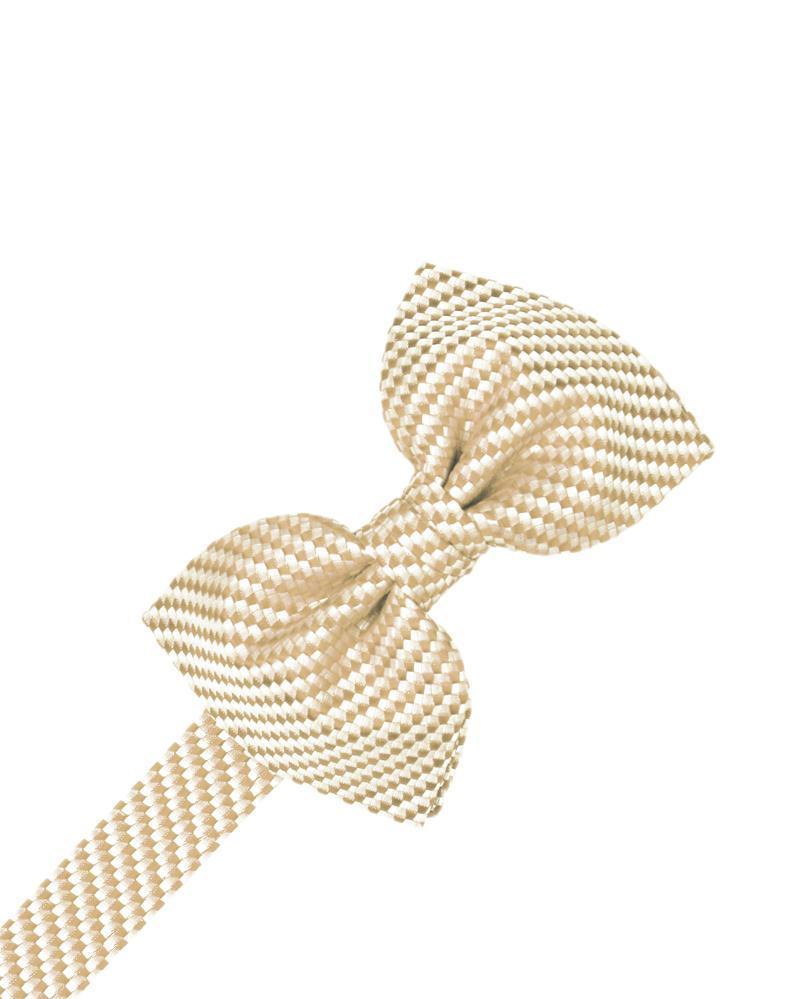 Light Champagne Venetian Bow Tie