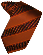 Load image into Gallery viewer, Autumn Venetian Stripe Necktie