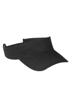 Black Cotton Twill Visor
