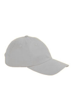 Light Grey 6-Panel Brushed Twill Unstructured Cap