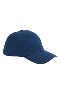 Navy 6-Panel Brushed Twill Unstructured Cap