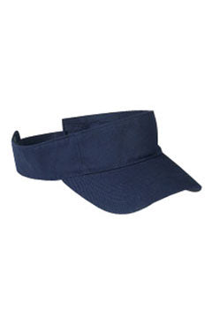 Navy Cotton Twill Visor