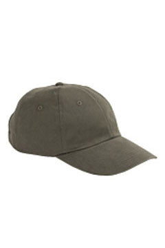 Olive 6-Panel Brushed Twill Unstructured Cap