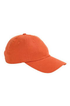 Tangerine 6-Panel Brushed Twill Unstructured Cap
