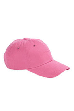Pink 6-Panel Brushed Twill Unstructured Cap