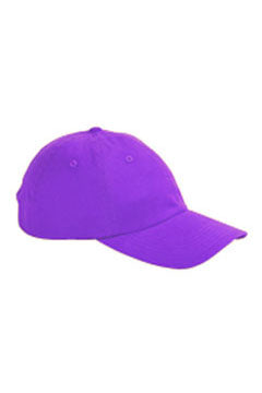 Purple 6-Panel Brushed Twill Unstructured Cap