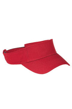 Red Cotton Twill Visor