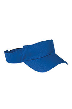 Royal Blue Cotton Twill Visor