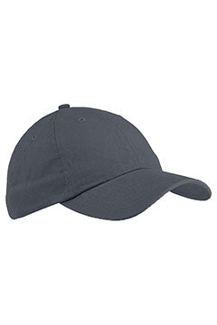 Steel Grey 6-Panel Brushed Twill Unstructured Cap