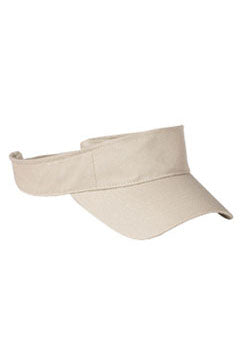 Stone Cotton Twill Visor
