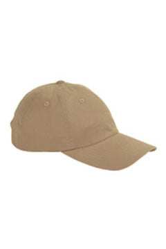 Khaki 6-Panel Brushed Twill Unstructured Cap