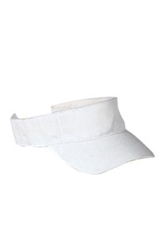 White Cotton Twill Visor