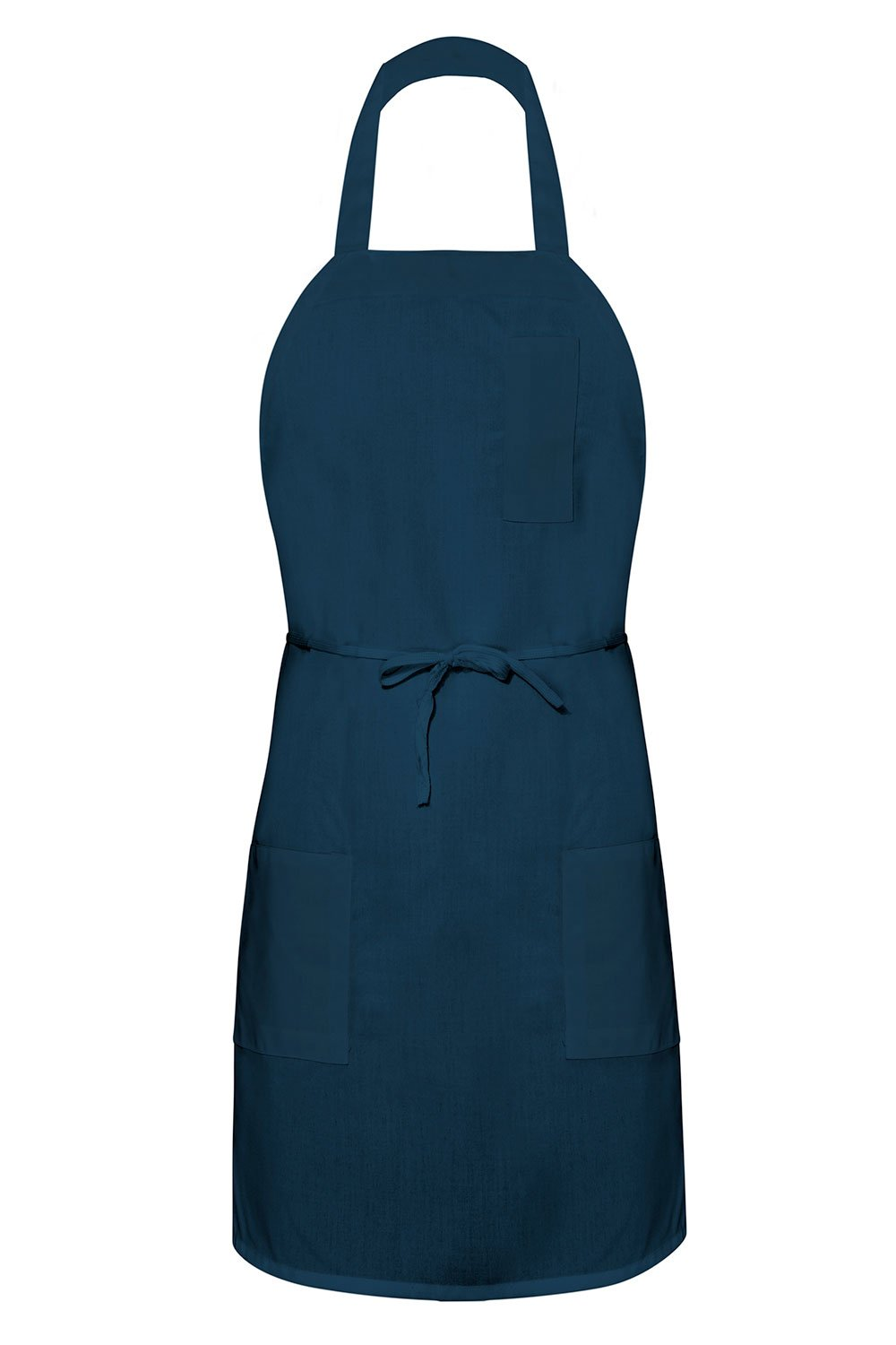 Navy Bib Apron (3 Pockets)